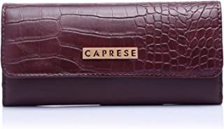 Caprese Croc Women's Wallet (Dark Brown)