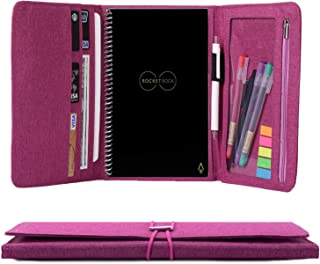 Folio Cover for Rocketbook Everlast Fusion, Multi Organizer Men & Women Folder with Pen Loop/Phone Pocket/Business Card Ho...