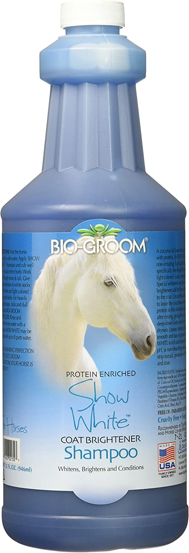 Bioderm Snow White Horse Coat Brightener Shine Grooming Shampoo & Conditioner