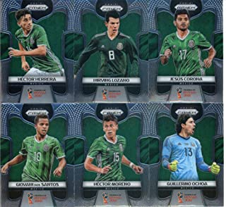 2018 Panini Prizm World Cup Soccer Mexico Team Set of 11 Cards: Javier Hernandez(#127), Andres Guardado(#128), Carlos Vela(#129), Diego Reyes(#130), Giovani Dos Santos(#131), Hector Moreno(#132), Guillermo Ochoa(#133), Hector Herrera(#134), Hirving Lozano(#135), Jesus Corona(#136), Miguel Layun(#137)