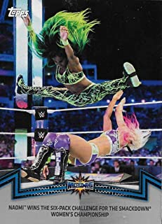 2018 Topps WWE Women's Division Evolution Memorable Matches and Moments Silver #SDL-8 Naomi Wins the Six-Pack Challenge NM-MT 24/50 Wins the Six-Pack Challenge