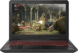 Asus FX504GE-DM231T TUF Gaming Laptop - Intel Core i7-8750H, 15.6-Inch FHD, 1TB + 256GB SSD, 16GB, 4GB VGA-GTX1050Ti, Eng-Arb-KB, Windows 10, Red Pattern Plastic