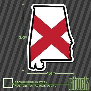 "SMALL Alabama State Shape Flag - 2""- vinyl decal sticker hard hat helmet toolbox"