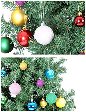 Christmas Balls, Christmas Day Ornaments,24 Pcs Shatterproof Christmas Ball Hanging Ball for Xmas Tree Party Decoration Frost