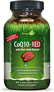 Irwin Naturals CoQ10-RED with Nitric Oxide Booster & MCTs - Advanced Heart Health Formula Supports Healthy Blood Flow & En...