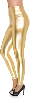 FUTURO FASHION Knöchellange Leggings mit hohem Bund - sexy Latex-Lederimitat - matt & glänzender Wet-Look