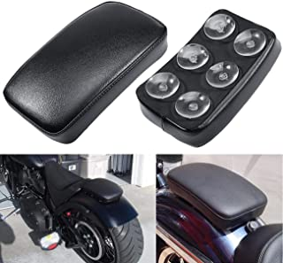 Motorcycle Seat Rectangular Passenger Pad Seat 6 Suction Cup for Motorcycle Cruiser Chopper Custom