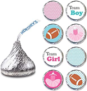 Tutu and Football Gender Reveal Label for HERSHEY'S KISSES® chocolates - Candy Stickers - Set of 240