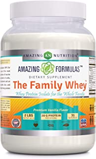 Amazing Formulas 'The Family Whey' – Whey Protein (Isolate) Powder for The Whole Family – 2 lbs – Most Complete & Purest F...