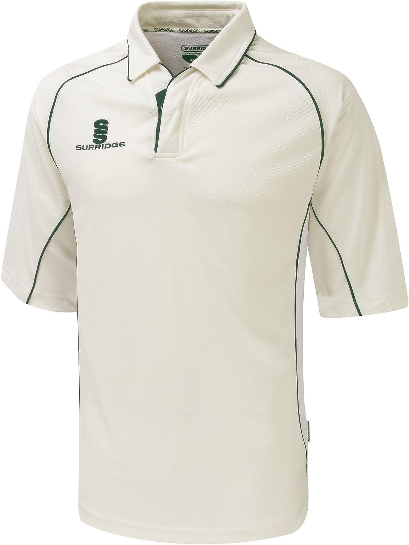 Surridge Big Boys Kids Sports Premier Shirt 3/4 Polo Shirt