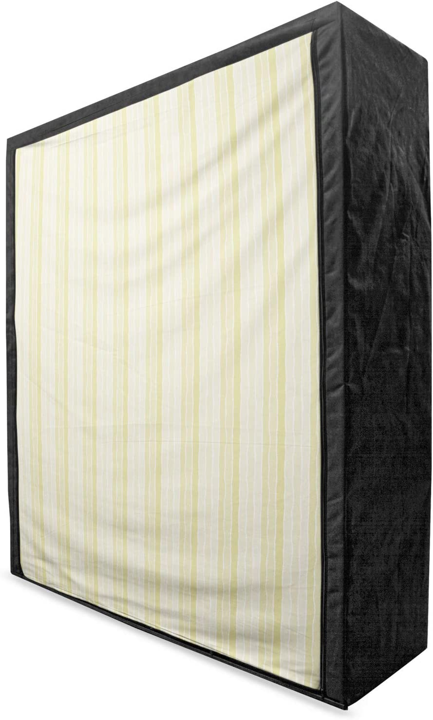 Ambesonne Pinstripe Portable Fabric Overseas parallel import regular Special Campaign item Lines Vertical Wardrobe wit