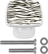 voor Kast Dressing Tafel Vierkante Kast Deurknoppen Witte Lade Trekt Handvat met Schroeven 4 Stks 30mm Textuur