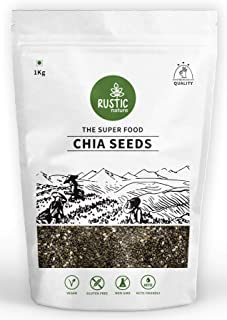 Rustic Nature Raw Chia Seeds Rich in Omega 3 for Weight Loss 1kg