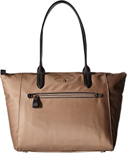 Nylon Kelsey Large Top Zip Tote