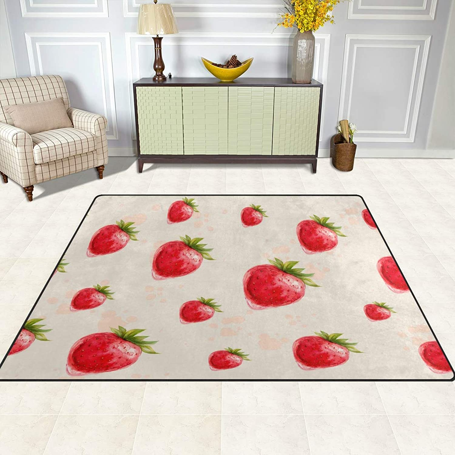 FAJRO Strawberry Rugs for entryway Doormat Area Rug Multipattern Door Mat shoes Scraper Home Dec Anti-Slip Indoor Outdoor