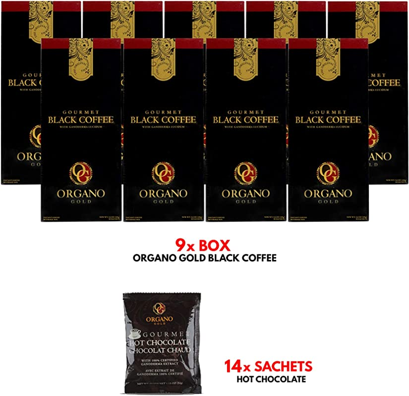 ORGANO Gold Gourmet Black Coffee 30 Sachets Per Box 9 Boxes FREE Sample Free Expedited Shipping