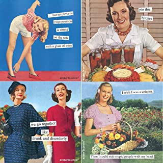 Women Cocktail Napkins Funny Anne Taintor Variety Pack 40 total napkins