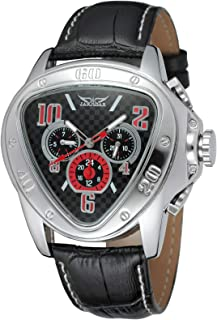 Andoer Men's Automatic Mechanical Watch with Leather Strap Fashion Wristwatch