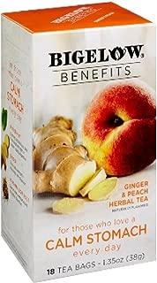 Bigelow Benefits Ginger & Peach Herbal Tea , Pack of 1