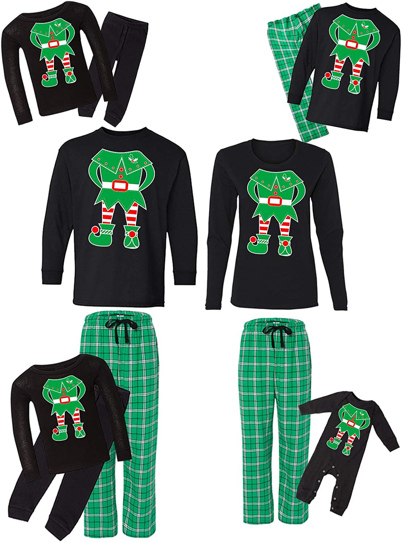 Awkward Las Vegas Max 86% OFF Mall Styles Family Christmas Pajamas Elf S Green Matching Set