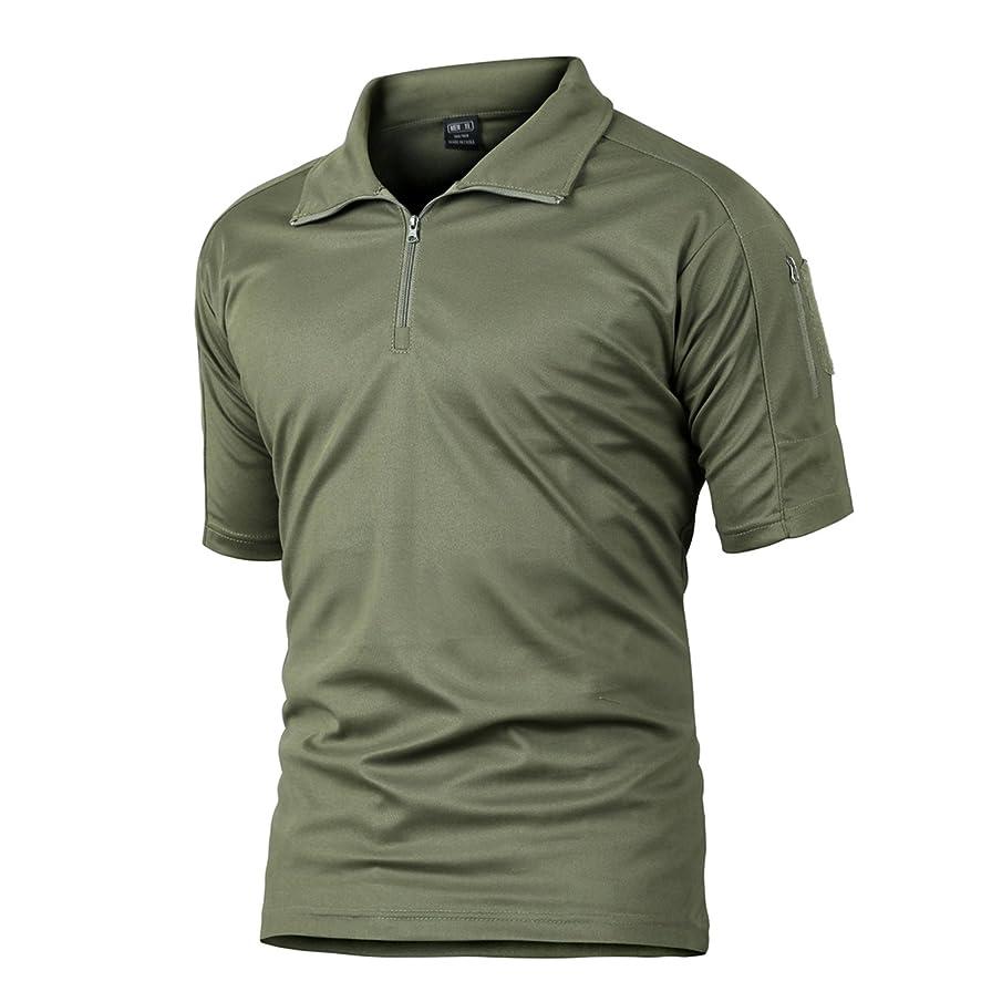 MAGCOMSEN Men's Outdoor Performance Short Sleeve Tactical Polo Shirt Pique Jersey Golf Polo Shirt