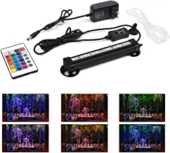 Smiful LED Aquarium Light with Air Pump Bubble, Submersible Underwater 16 Color and 4..