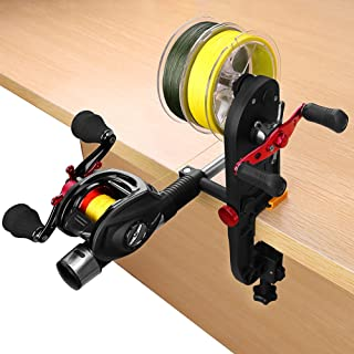 PLUSINNO Fishing Line Spooler Spooling Station System Machine Multifunction Baitcasting Reel Spooler Fishing Line Winder