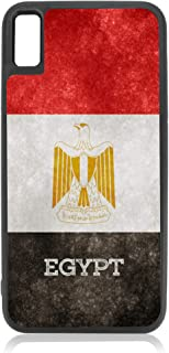Flag Egypt - Egyptian Grunge Flag Design Black Rubber Case for iPhone Xs Max - iPhone Xs Max Accessories