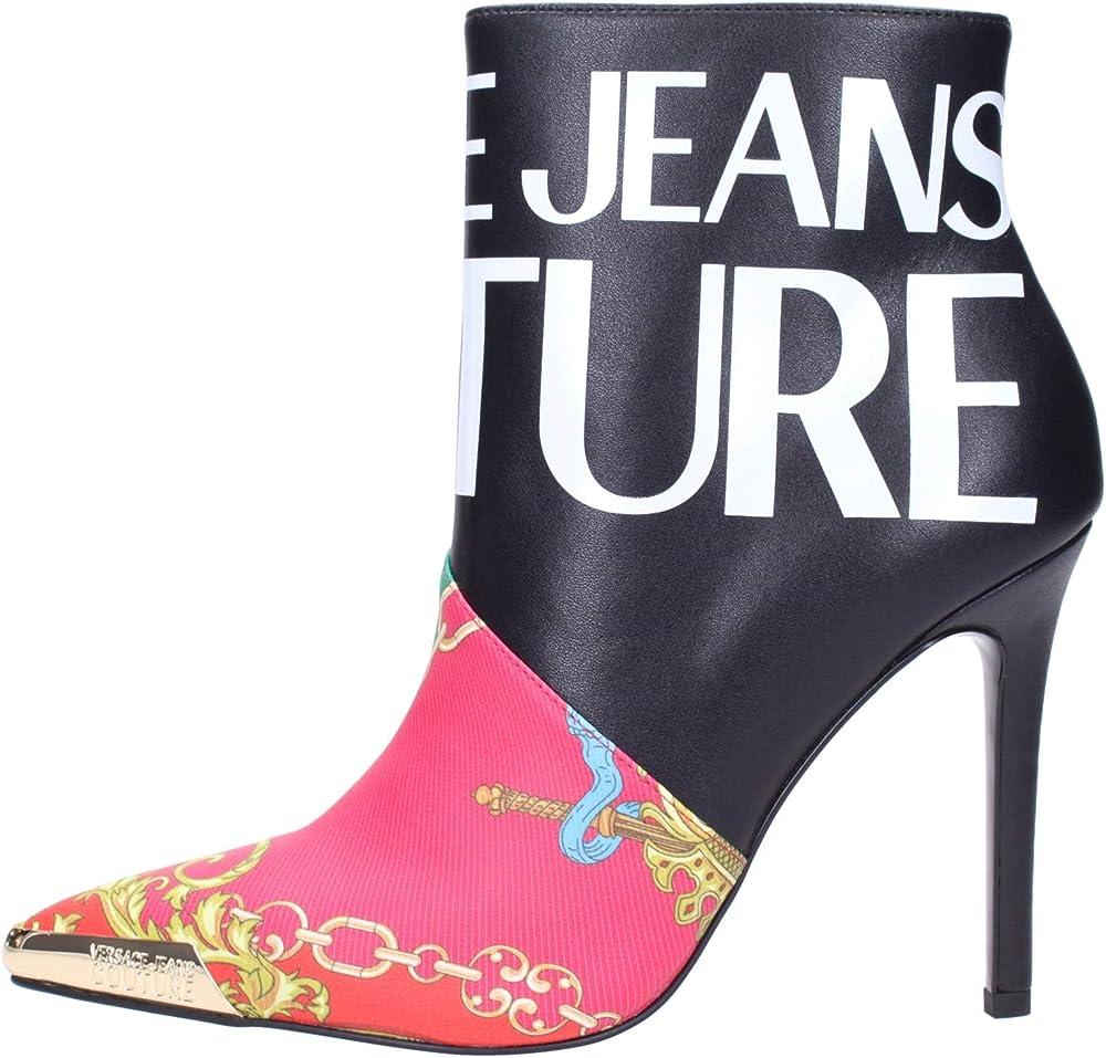 Versace jeans couture tronchetti stivali da donna in pelle E0vzbs0571754m09