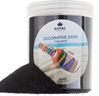 Royal Imports 5 LBS Colored Decorative Beach Sand for Vase Filler, Wedding, Home Décor, Crafts and Therapy Play, Black