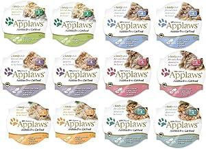 انواع و اقسام غذاهای گربه را پوست و سرو کنید در یک بسته نرم افزاری با طعم Broth 6 ، 2.12 اونس (12 گلدان در کل) توسط Applaws Layers