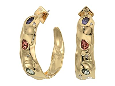 Alexis Bittar Stone Studded Crumpled Hoop Earrings (10K Gold) Earring