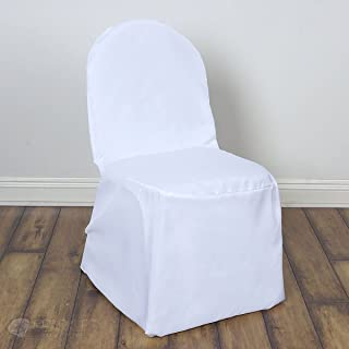Sparkles Make It Special 100 pc Polyester Banquet Chair Covers - Wedding Reception Banquet Party Restaurant - White