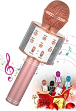 SEATANK Bluetooth Karaoke Microphone for Kids Toys, Wireless Portable Karaoke Machine, Handheld Mic Speaker Christmas Birt...