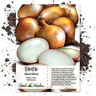 Seed Needs, Walla Walla Onion (Allium cepa) 450 Seeds Non-GMO