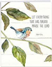 Scripture Birds Psalm 150:6 - Religious Congratulations Card with Envelope (Extra Large 8.5 x 11 Inch) - Watercolor Recognition Card with Bible Verse Quote - Congrats Greeting Stationery J7108ICGG
