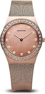 Bering 丹麦品牌 经典系列 时尚简约镶钻超薄石英表 防水钢带时装表女士手表