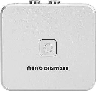 Mxzzand Caja de captura de audio portátil RCA canales izquierdo derecho digitalizador de música MP3 digitalizador 128 Kbps...