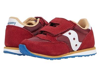 Saucony Kids Originals Baby Jazz HL (Toddler/Little Kid) (Red/Blue/Tan) Kid