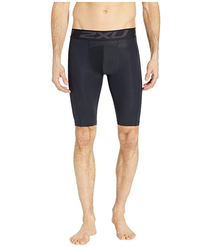 2XU Accelerate Compression Layering Shorts (Black/Silver) Men