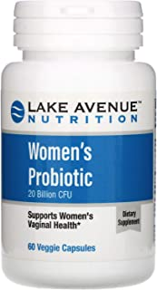 Lake Avenue Nutrition Women's Probiotics, 20 Billion CFU, 60 Veggie Capsules