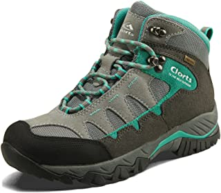 Women's Mid Hiking Boot Hiker Leather Waterproof Lightweight Outdoor Backpacking Trekking Shoe