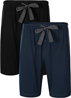 DAVID ARCHY Men's Pyjamas Set/Men's Pyjama Shorts Bottoms, 100% Cotton Mens Short Pyjamas Set/Bottoms, Men's Sleepwear Lou...
