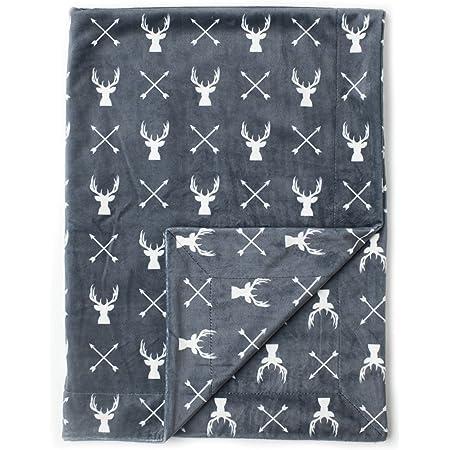 "Kids N' Such Minky Baby Blanket & Baby Swaddle Blanket for Newborns & Toddlers, 30"" x 40"", Deer"