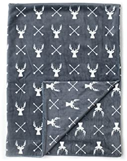 "Kids N' Such Minky Baby Blanket 30"" x 40"" - Deer - Soft Swaddle Blanket for Newborns and Toddlers - Best for Boy or G..."