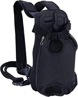 Dog Backpack, Pet Dog Carriers for Small Dogs, Legs Out Front Backpack Small Dog Carrier, Large Cat Backpack Carrier, Dog ...