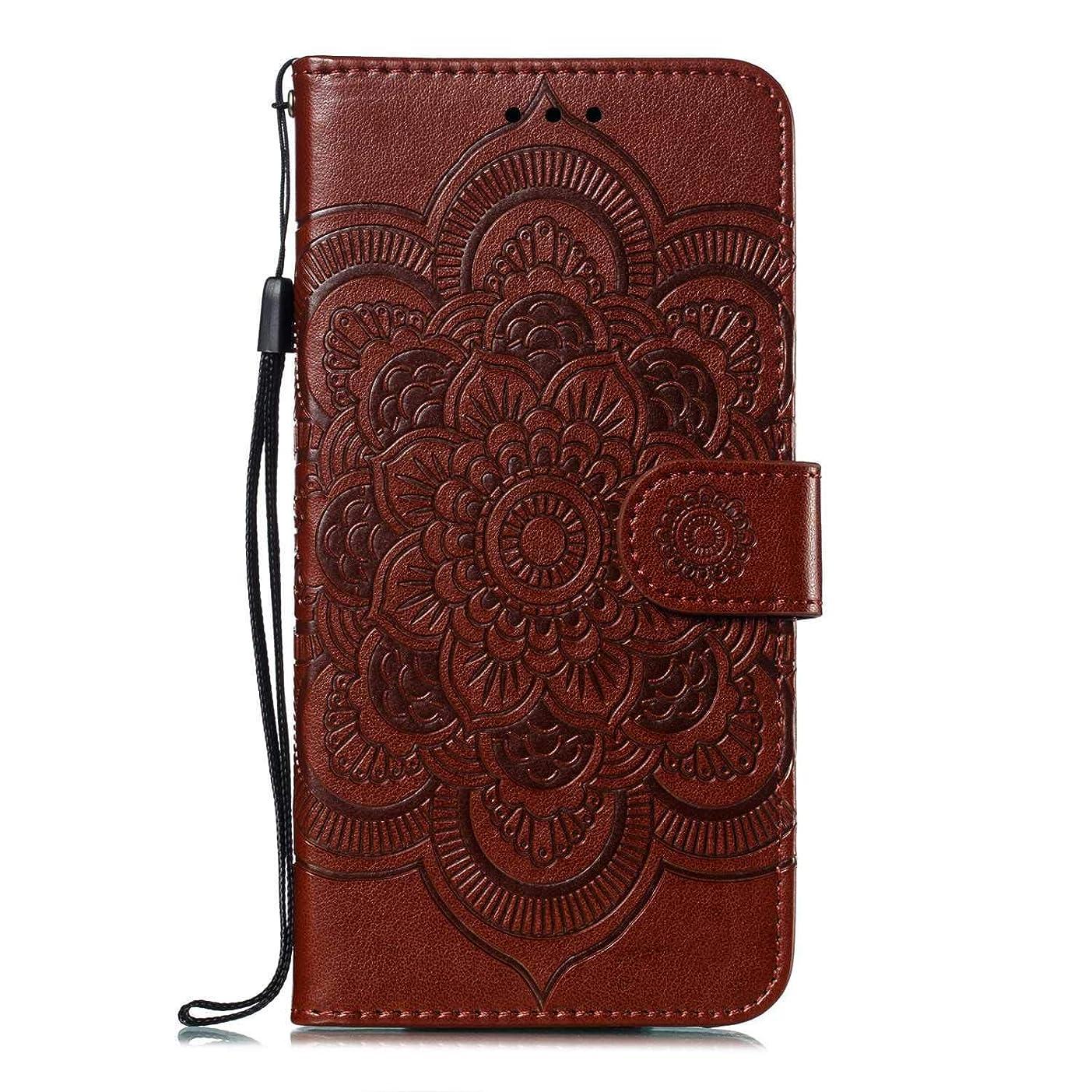 思いやり失礼なバックGalaxy A50 防塵 ケース, CUNUS 高品質 携帯電話 ケース 軽量 柔軟 高品質 耐汚れ カード収納 カバー Samsung Galaxy A50 用, ブラウン