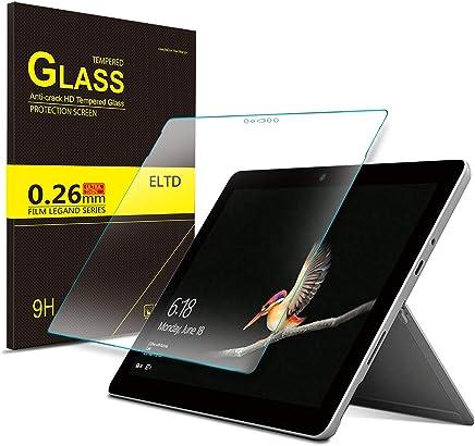 ELTD マイクロソフトSurface Go ガラスフィルム  Surface Go 保護フィルム  日本旭硝子製 耐指紋 高透過率 気泡ゼロ 硬度9H