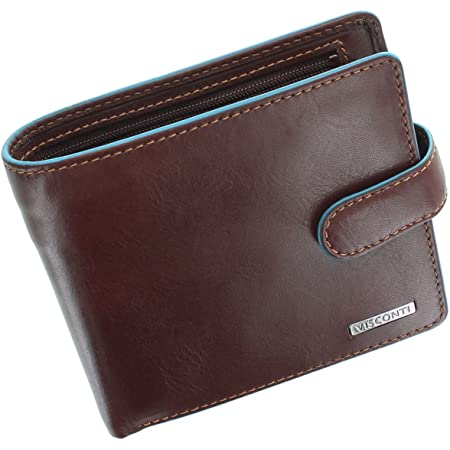 Visconti Alps Collection Tom Bi-Fold Leather Wallet with RFID Protection - ALP86 Brown