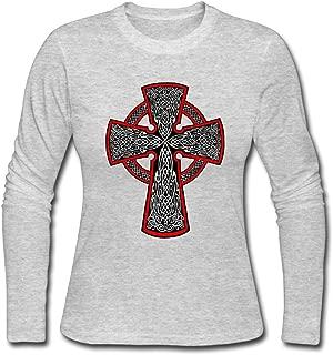 Women's Fashion Celtic Cross Tattoo Long Sleeve Shirt